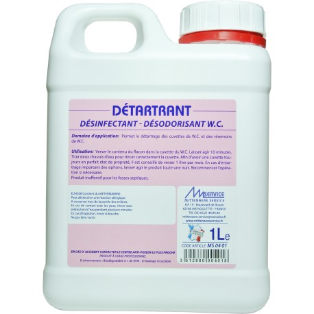 Détartrant désinfectant WC - MS 04